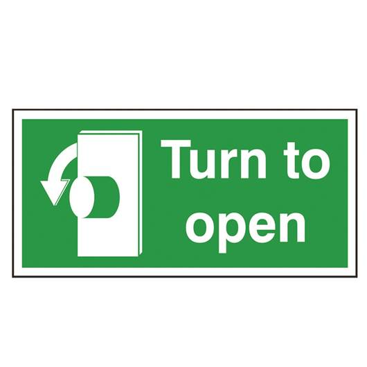 Picture of Turn To Open Left Sign