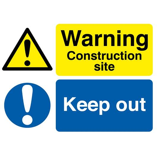 Picture of Warning Construction Site Keep Out Sign