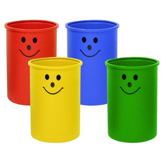 Picture of Litter Bins with Smiley Face Logo