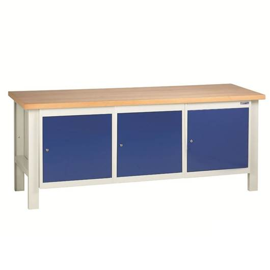 Picture of Heavy Duty Workbenches with 3 Cupboard Units
