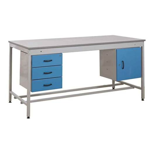 Picture of Taurus Utility Workbench with Triple Drawer & Cupboard - From Stock