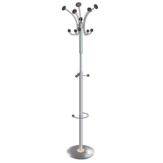 Picture of Chrome Coat Stand with 10 Revolving Coat Hooks