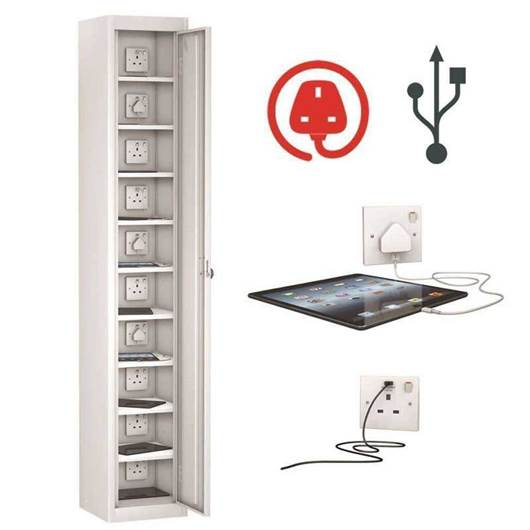 Picture of TabBox Lockers with USB & 3 Pin Charge Points