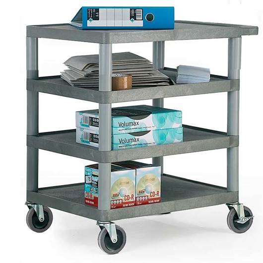 Picture of Standard Grey 4 Shelf Trolley